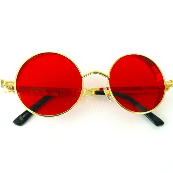 c7fa84f3d5d6a John Lennon Style Red Round Fashion Sunglasses